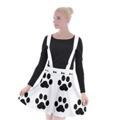 Claw Black Foot Chat Paw Animals Suspender Skater Skirt by Mariart