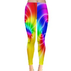Complex Orange Red Pink Hole Yellow Green Blue Leggings  by Mariart