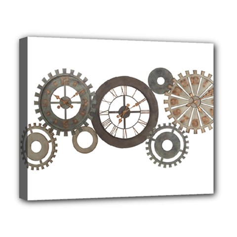Hour Time Iron Deluxe Canvas 20  X 16   by Mariart