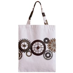 Hour Time Iron Zipper Classic Tote Bag by Mariart