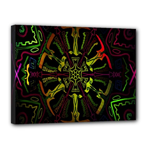 Inner Peace Star Space Rainbow Canvas 16  X 12  by Mariart