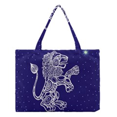 Leo Zodiac Star Medium Tote Bag by Mariart