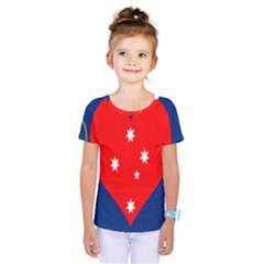 Love Heart Star Circle Polka Moon Red Blue White Kids  One Piece Tee by Mariart