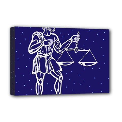 Libra Zodiac Star Deluxe Canvas 18  X 12   by Mariart