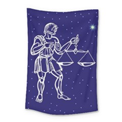 Libra Zodiac Star Small Tapestry by Mariart