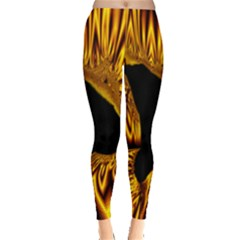 Hole Gold Black Space Leggings  by Mariart