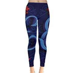 Marquis Love Dope Lettering Blue Red Alphabet E Leggings  by Mariart