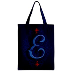 Marquis Love Dope Lettering Blue Red Alphabet E Zipper Classic Tote Bag by Mariart