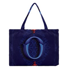 Marquis Love Dope Lettering Blue Red Alphabet O Medium Tote Bag by Mariart