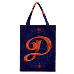 Marquis Love Dope Lettering Blue Red Orange Alphabet P Classic Tote Bag by Mariart