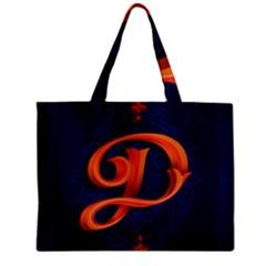 Marquis Love Dope Lettering Blue Red Orange Alphabet P Zipper Mini Tote Bag by Mariart