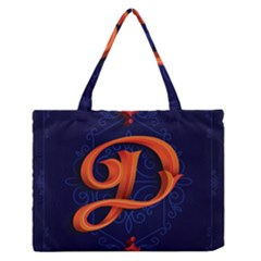 Marquis Love Dope Lettering Blue Red Orange Alphabet P Medium Zipper Tote Bag by Mariart