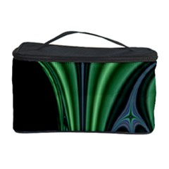Line Light Star Green Black Space Cosmetic Storage Case by Mariart