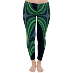 Line Light Star Green Black Space Classic Winter Leggings by Mariart
