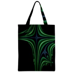 Line Light Star Green Black Space Zipper Classic Tote Bag by Mariart