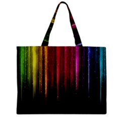 Rain Color Rainbow Line Light Green Red Blue Gold Zipper Mini Tote Bag by Mariart
