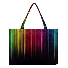 Rain Color Rainbow Line Light Green Red Blue Gold Medium Tote Bag by Mariart