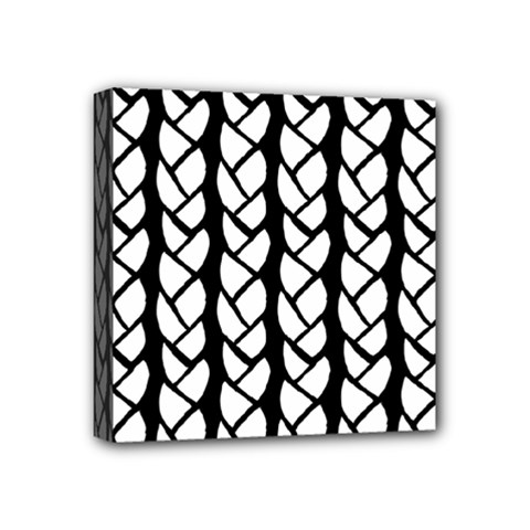 Ropes White Black Line Mini Canvas 4  X 4  by Mariart