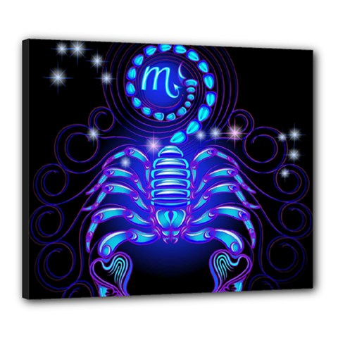 Sign Scorpio Zodiac Canvas 24  X 20  by Mariart