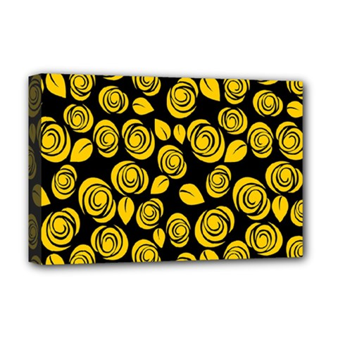 Floral Pattern Deluxe Canvas 18  X 12   by ValentinaDesign