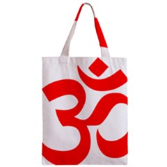 Hindu Om Symbol (red) Zipper Classic Tote Bag by abbeyz71