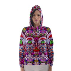 Hawaiian Poi Cartoon Dog Hooded Wind Breaker (women) by pepitasart