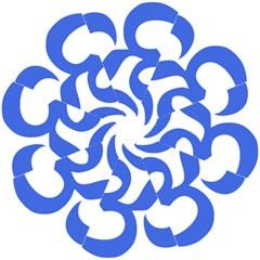 Hindu Om Symbol (royal Blue) Hook Handle Umbrellas (small) by abbeyz71