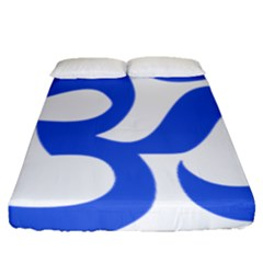 Hindu Om Symbol (royal Blue) Fitted Sheet (queen Size) by abbeyz71