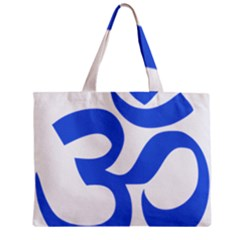 Hindu Om Symbol (royal Blue) Zipper Mini Tote Bag by abbeyz71