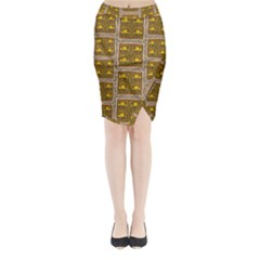 Pasta Con Fish Al Diente Midi Wrap Pencil Skirt