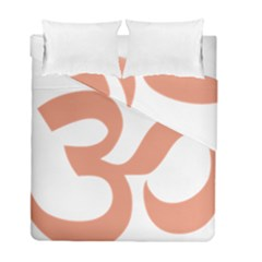 Hindu Om Symbol (salmon) Duvet Cover Double Side (full/ Double Size) by abbeyz71