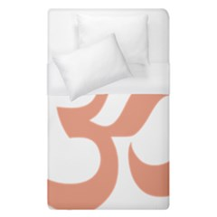 Hindu Om Symbol (salmon) Duvet Cover (single Size) by abbeyz71