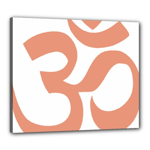 Hindu Om Symbol (salmon) Canvas 24  X 20  by abbeyz71