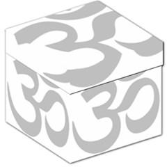Hindu Om Symbol (gray) Storage Stool 12   by abbeyz71