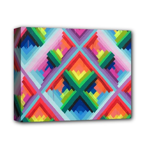 Rainbow Chem Trails Deluxe Canvas 14  X 11