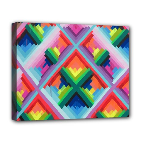 Rainbow Chem Trails Deluxe Canvas 20  X 16