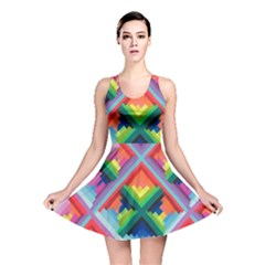 Rainbow Chem Trails Reversible Skater Dress