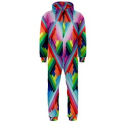 Rainbow Chem Trails Hooded Jumpsuit (men)