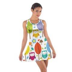 Cute Owl Cotton Racerback Dress