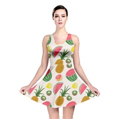 Fruits Pattern Reversible Skater Dress