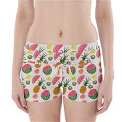 Fruits Pattern Boyleg Bikini Wrap Bottoms