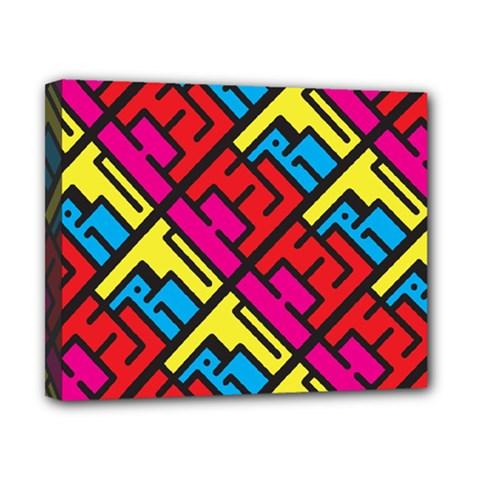 Hert Graffiti Pattern Canvas 10  X 8