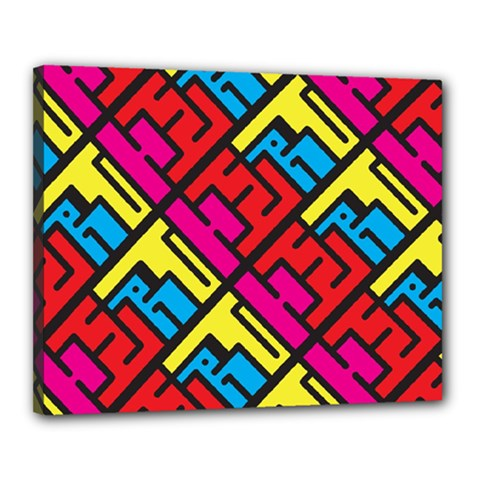 Hert Graffiti Pattern Canvas 20  X 16