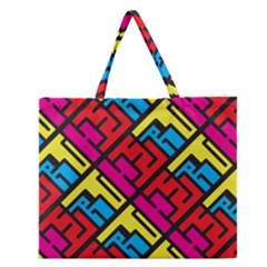 Hert Graffiti Pattern Zipper Large Tote Bag by Nexatart