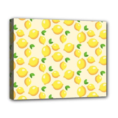 Lemons Pattern Deluxe Canvas 20  X 16
