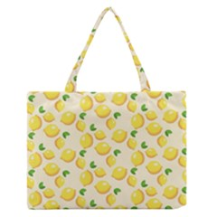 Lemons Pattern Medium Zipper Tote Bag