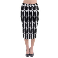 Bones  Midi Pencil Skirt by Valentinaart
