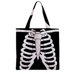 X Ray Zipper Grocery Tote Bag by Valentinaart