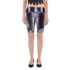 X Ray Yoga Cropped Leggings by Valentinaart