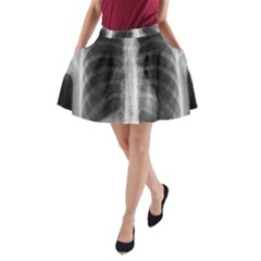 X Ray A Line Pocket Skirt by Valentinaart